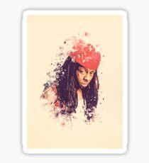 Lil Wayne splatter painting Sticker