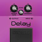Boss Delay Pedal iPhone Case by abinning
