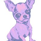 Pink Chihuahua  by Jane Oriel