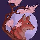 Sakura Fox by thekohakudragon