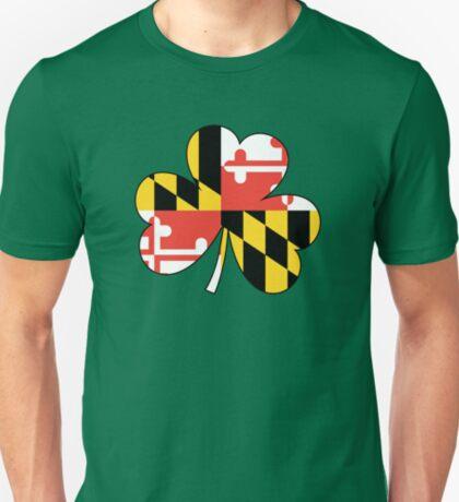 Maryland Flag Four Leaf Clover T-Shirt