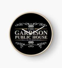 Das Garrison Public House, kleine Heide, Birmingham Uhr