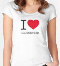 I ♥ GLOUCESTER Women's Fitted Scoop T-Shirt