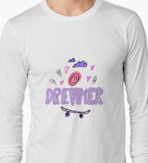 Dreamer. Hand drawn lettering with ice cream, hearts, clouds and skateboard T-Shirt