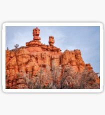 Close up of Interesting Rock Formations at Red Canyon, USA. Sticker