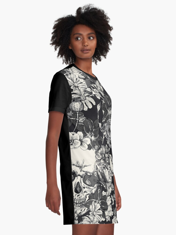 Alternate view of SKULLS Graphic T-Shirt Dress