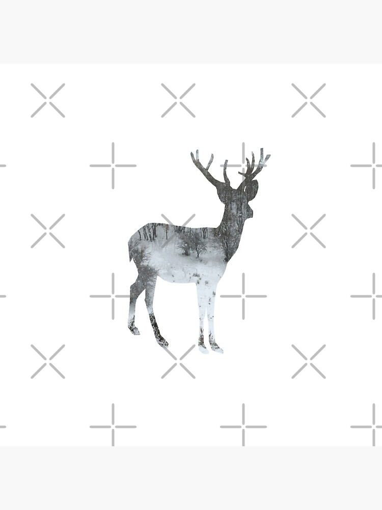 Snowing Reindeer On White by by-jwp