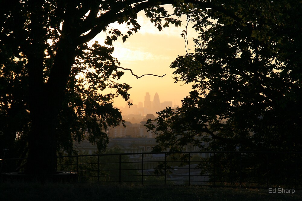 London from the hill by Ed Sharp