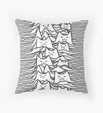 CAT DIVISION WHITE Throw Pillow