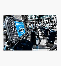 Boris Bike London Spitalfields Photographic Print