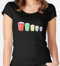 Retro Cannisters - Black Women's Fitted Scoop T-Shirt