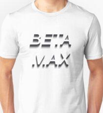 BETAMAX Typographic Design Unisex T-Shirt