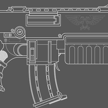 Space Marine Bolter by GlewPrint