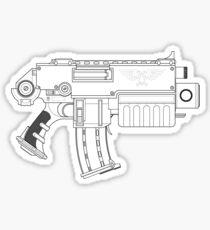 Space Marine Bolter Sticker