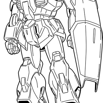 RX-178 Gundam Mk-II Outline Black by MossLoves