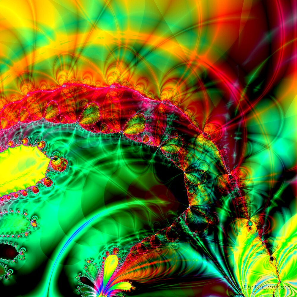 Colorful fractal journey by CanDuCreations