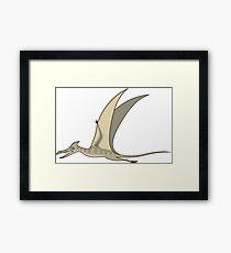 Flying dino Framed Print