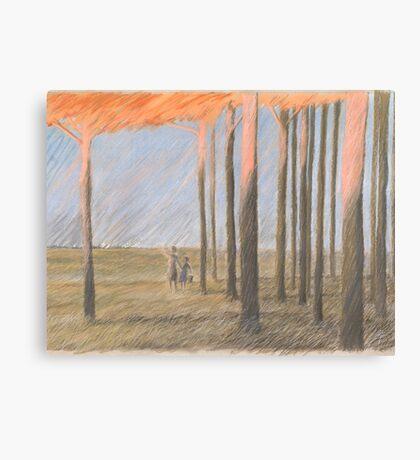 Lichter am Horizont Canvas Print