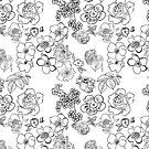 Flowers In Black by Pamela Howard