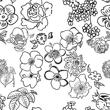 Flowers In Black by pamelahoward