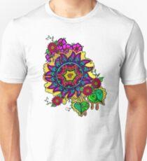 Crazed Floral Unisex T-Shirt