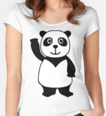 Funny panda Women's Fitted Scoop T-Shirt