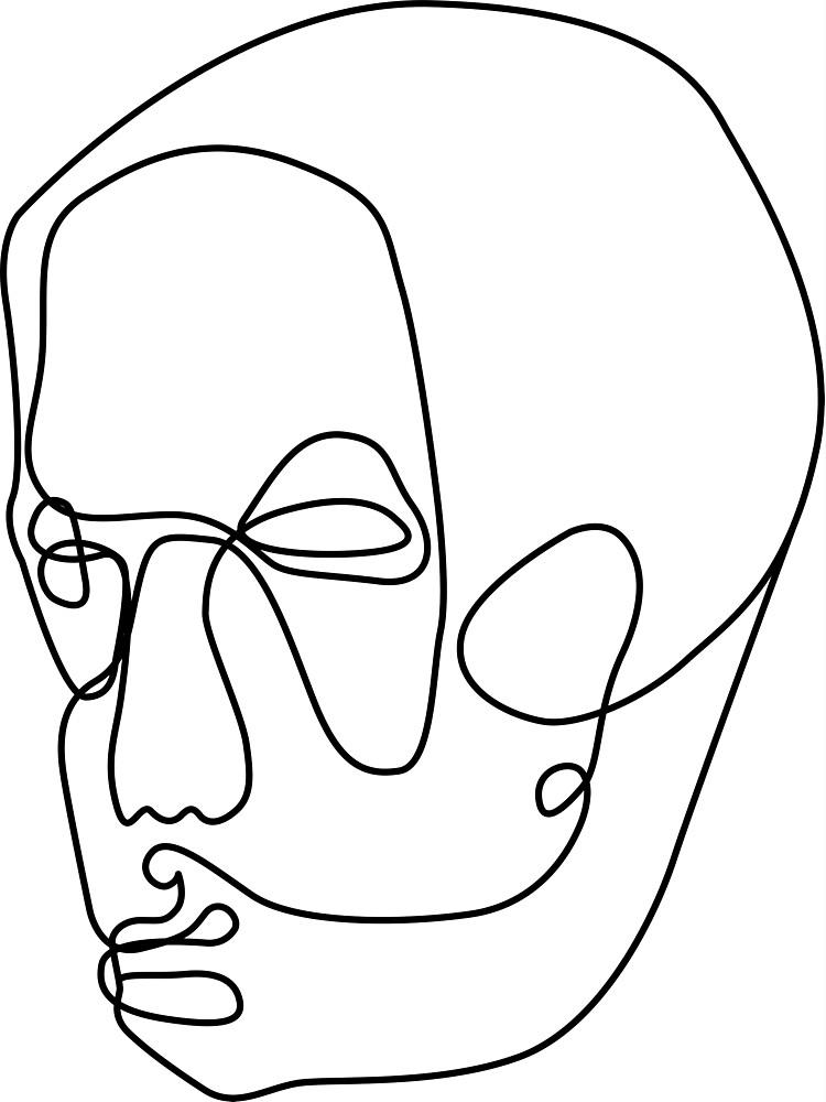 Graphic Head Illustration One Line von remoschmidheiny