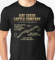 Hat Creek Cattle Company Sign Unisex T-Shirt