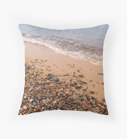 Windy Day on Whitefish Point IV Throw Pillow