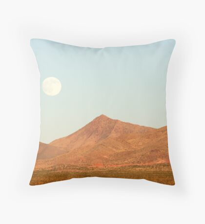 Full Moon and Crescent Peak Throw Pillow