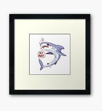 Shark says Hi Framed Print