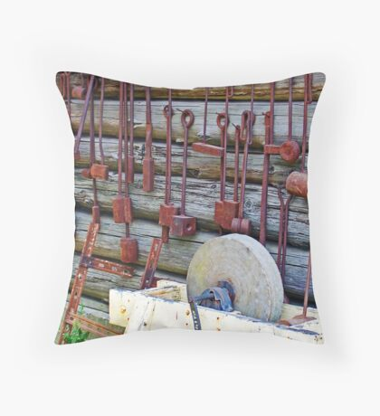 Grindstone & Tools Throw Pillow