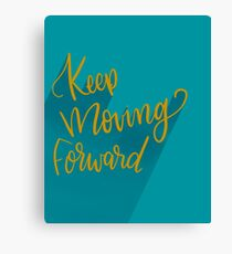 Keep Moving Forward Motivational Print Canvas Print