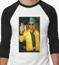 Celebrity Photography (Jamie Fox) Men's Baseball ¾ T-Shirt