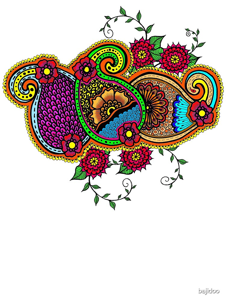 Full color Paisley, Paisley to the bone by bajidoo