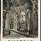 Austria Vintage Travel Advertisement Art Poster by jnniepce