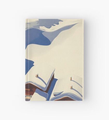 Vintage Skiing Travel Advertisement Art Poster Hardcover Journal