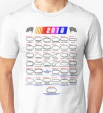 Schedule Nascar Cup Series 2018 white Unisex T-Shirt