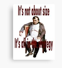 Napoleon: the biggest. Canvas Print