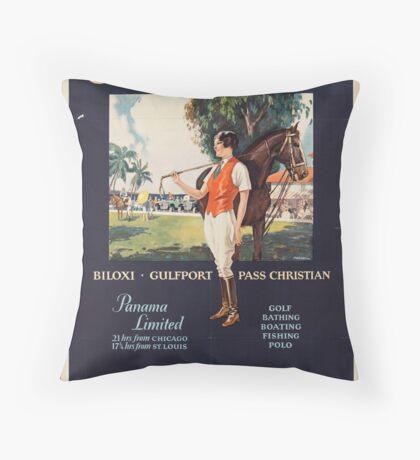 Illinois Vintage Travel Advertisement Art Poster Throw Pillow