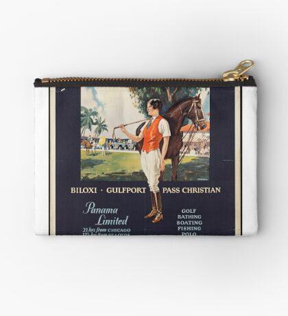 Illinois Vintage Travel Advertisement Art Poster Zipper Pouch
