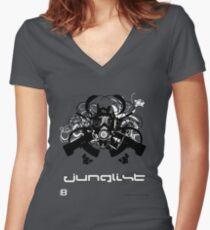 Junglist Women's Fitted V-Neck T-Shirt