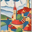 Berne Switzerland Vintage Travel Advertisement Art Poster by jnniepce
