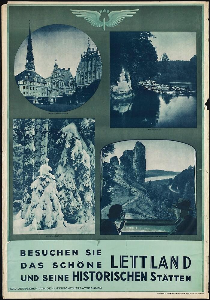Vintage Travel Advertisement Art Poster by jnniepce