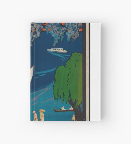 Vintage Travel Advertisement Art Poster Hardcover Journal