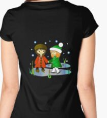 Lia and Cellia skating Women's Fitted Scoop T-Shirt