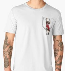 Lebron hanging from a pocket Men's Premium T-Shirt