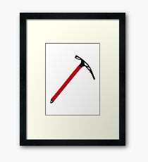 Ice climbing pick axe Framed Print