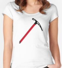 Ice climbing pick axe Women's Fitted Scoop T-Shirt