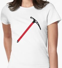Ice climbing pick axe Women's Fitted T-Shirt